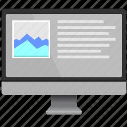 economic, graphic, mac, report, screen, seo, statistics icon