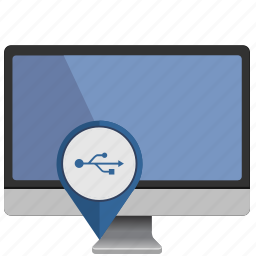 display, mac, monoblock, pointer, port, usb icon
