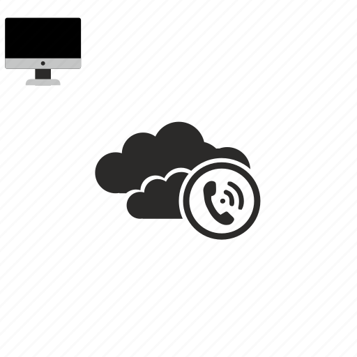 call, cloud icon