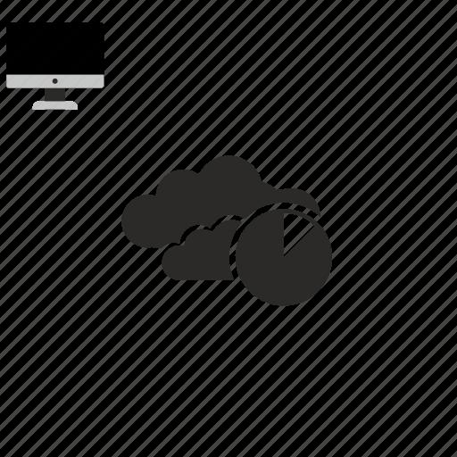 cloud, diagramm icon
