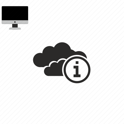 cloud, info icon