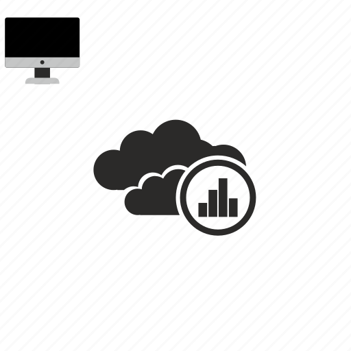 cloud, statistics icon