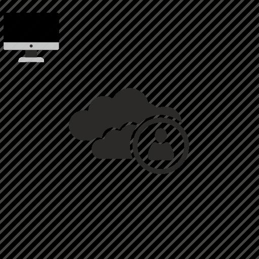 cloud, user icon