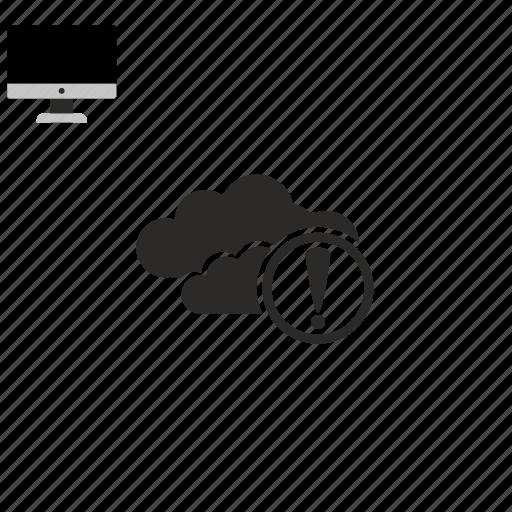 cloud, warning icon