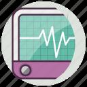 emergency, medical, monitor icon