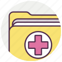 document, file, folder, medical icon