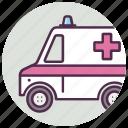 ambulance, car, medical icon