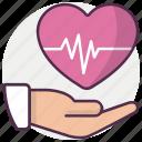 emergency, heart, medical icon