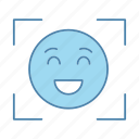 emoji, emoticon, face id, facial, recognition, scan, smiley icon
