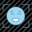 facial, smiley, emoji, emoticon, face id, scan, recognition