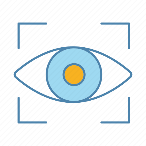 biometric, eye, optical, recognition, retina, scan, technology icon