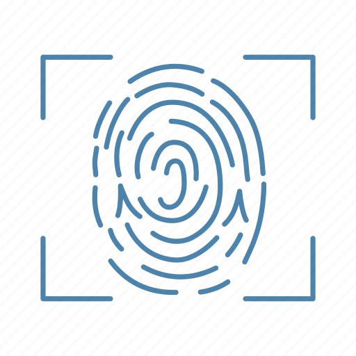 biometric, fingerprint, identification, recognition, scan, technology, touch id icon