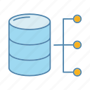 data, database, datacenter, hosting, server, storage, technology icon