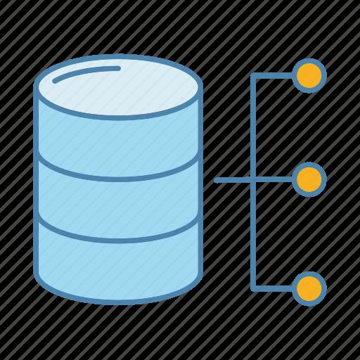 Data, database, datacenter, hosting, server, storage, technology icon - Download on Iconfinder