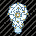 network, innovation, cogwheel, idea, technology, lightbulb, invention