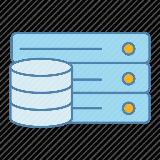 data, database, datacenter, hosting, server, storage, technology icon