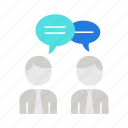 collaboration, discussion, teamwork icon