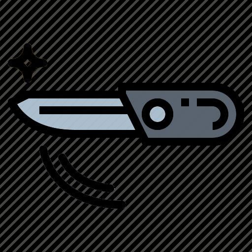 Kitchenware, knife, pocket, weapon icon - Download on Iconfinder