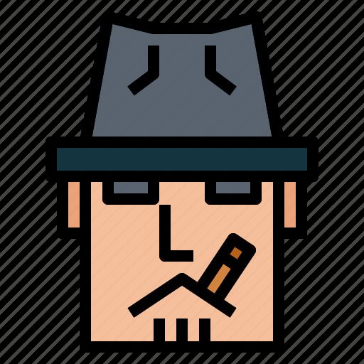 cigarette, mafia, smoking, tobacco icon