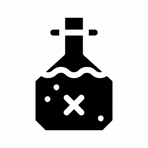 bottled, container, flask, hobbies and free time, liquid, poison, potion icon