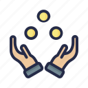 ball, circus, hand, juggle, juggling