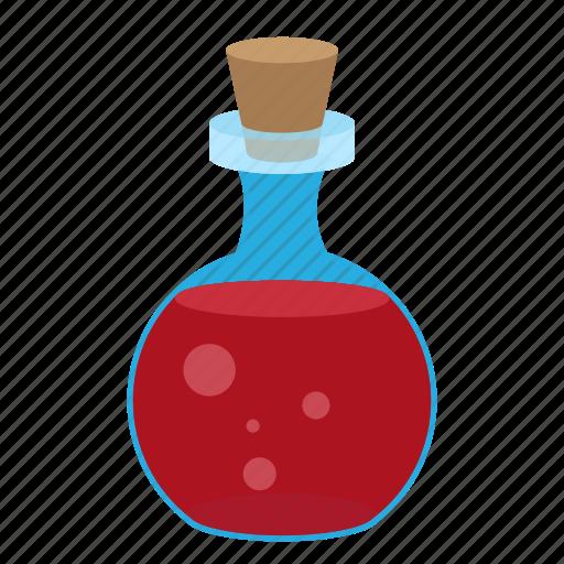 cap, cartoon, flask, glass, liquid, magic, substance icon