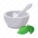 bowl, cartoon, chemist, grind, grinding, herbs, medicine icon