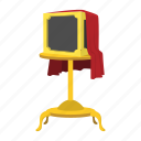 box, cartoon, cloth, magic, magician, red, trick icon