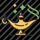 oil, magic, lamp, genie icon