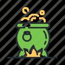 cauldron, magic, pot, potion icon