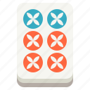 luck, gambling, mahjong, majiang, six