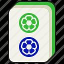 luck, gambling, mahjong, majiang, two