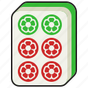 gambling, luck, mahjong, majiang, six icon