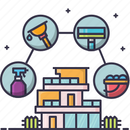 home, sanitization icon
