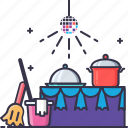 cleaning, help, party icon