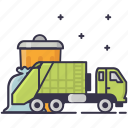 disposal, garbage icon