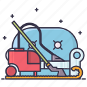 and, sofa, cleaning, carpet icon