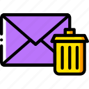delete, envelope, letter, mail, message icon