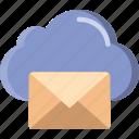 cloud, envelope, letter, mail, message