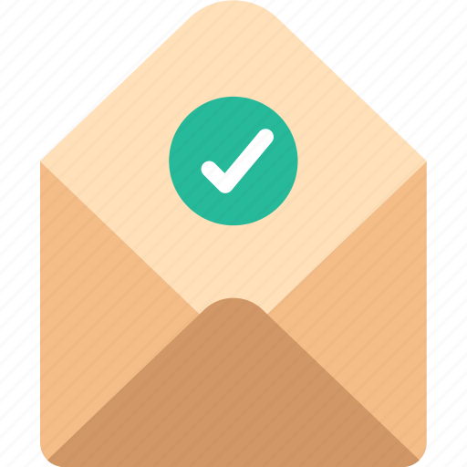 envelope, letter, mail, message, success icon