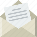 envelope, mail, message, open, letter