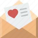 envelope, message, love, letter, mail