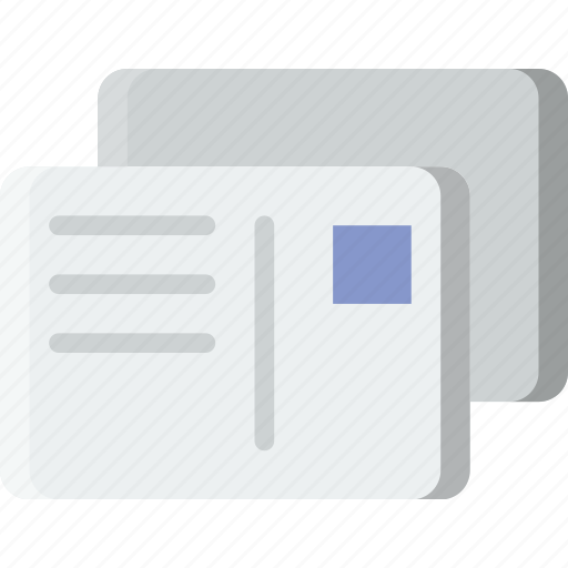 envelope, letter, mail, message, postcard icon