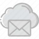cloud, envelope, letter, mail, message icon
