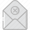 envelope, failure, letter, mail, message icon