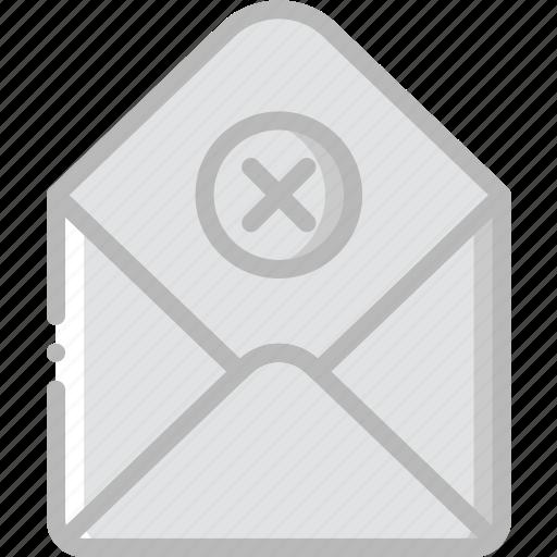 envelope, failure, letter, mail, message icon