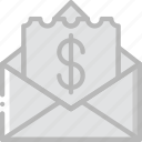 bill, envelope, letter, mail, message icon