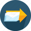 envelope, event, express delivery, mail, send, sent icon