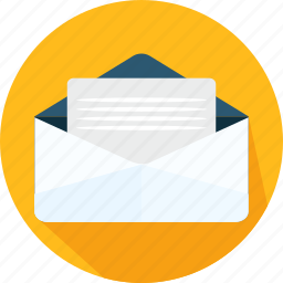 email, envelope, letter, mail, message, note, yellow icon