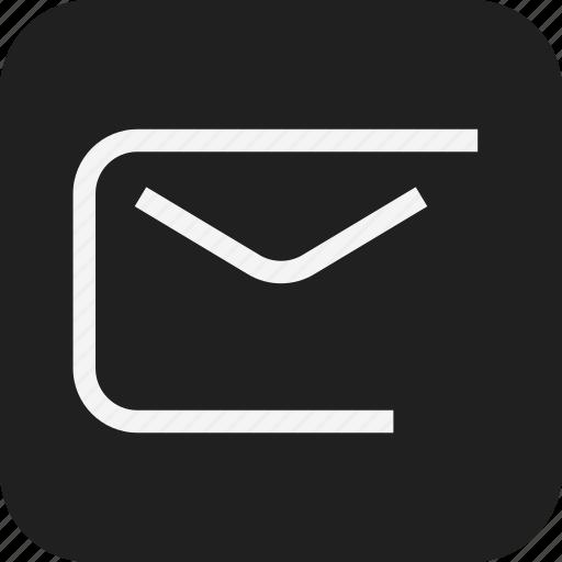 app, envelope, line, mail, web icon